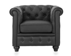 Black Chesterfield Chair
