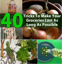 40 Ways To Make Your Groceries Last As Long As Possible