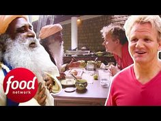 Gordon goes to an ashram in southern India to try out vegetarian food made by a guru. Do you think Gordon will be convinced that it's better to have a vegeta. Food Network Uk, Food Network Recipes, Easy White Bread Recipe, Kitchen Nightmares, Tv Chefs, Gordon Ramsey, Best Chef, Vegetarian Food