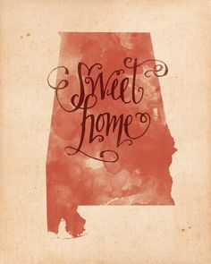 Sweet Home Alabama print by penmeetpaper on Etsy