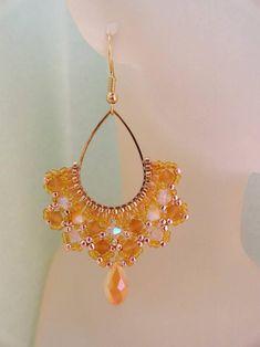 Bead Jewellery, Wire Jewelry, Beaded Jewelry, Jewlery, Seed Bead Earrings, Beaded Earrings, Crochet Earrings, Handmade Jewelry Box, Earrings Handmade