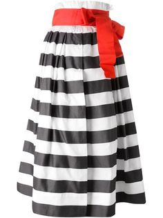 Shop Sara Roka striped flared skirt in Twist'n'Scout from the world's best independent boutiques at farfetch.com. Over 1000 designers from 300 boutiques in one website.