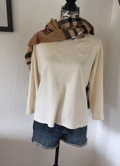 Kaufe meinen Artikel bei #Kleiderkreisel http://www.kleiderkreisel.de/damenmode/pullis-and-sweatshirts-langarmlig/109693836-creme-farbiges-langarm-shirt-von-hermes-paris