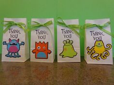 Small Monster Birthday Party Treat or Favor by ThePirdieBirdie, $24.00