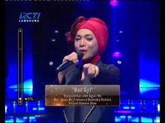 Indah Nevertari - Bad Girl - Agnez Mo - Rising Star Indonesia TOP 12 - 2...