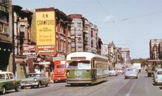 PHOTO – CHICAGO – CLARK AND SCHILLER – LOOKING N – PCC STREETCAR – STORES – 1957 – EDITED FROM UNKNOWN PHOTOGRAPHER | CHUCKMAN'S PHOTOS ON WORDPRESS: CHICAGO NOSTALGIA AND MEMORABILIA Walk Up Apartment, Chicago Photos, Gold Coast, Nostalgia, Street View, City, Wordpress, Vintage, City Drawing