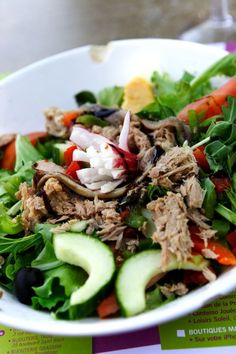 Tuna salad. Eze, France. Tasty Fish Recipe, Tuna Fish Recipes, Smoked Salmon Recipes, Healthy Salmon Recipes, Salad Recipes, Fish Salad, Tuna Salad, Soup And Salad, Crockpot Recipes