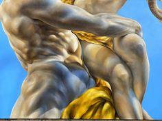 "Dina Perejogina on Instagram: """"Embrace"" Refining and shading. 🥰 @dinaperejogina www.dinaperejogina.com #classicalstyle #methologyart #oilpainting #oiloncanvas…"" Classical Art, Oil On Canvas, Fine Art, Statue, Closer, Painting, Instagram, Painted Canvas, Painting Art"