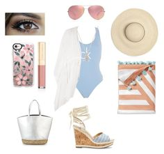 """""""Beach day 🌊☀️"""" by kleahuli-i on Polyvore featuring moda, Calvin Klein, Topshop, Sole Society, Serena & Lily, Oliver Peoples, Dolce&Gabbana e Casetify"""