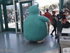 "Accurate representation of a Snorlax. Lol the guy is like ""Sir I get your Snorlax cosplay, but you need to stop."""