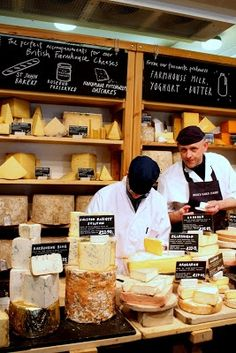 Neal's Yard Dairy: bring home a wheel of Stilton from them, aged & pampered in their cellars