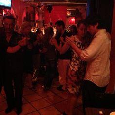 Diego Santana teaching Tango in Miami at Tapas y Tintos South Beach