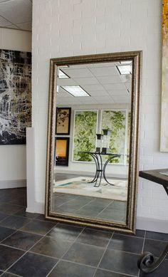 Gold Silver Framed Bathroom Mirrors Custom Sized