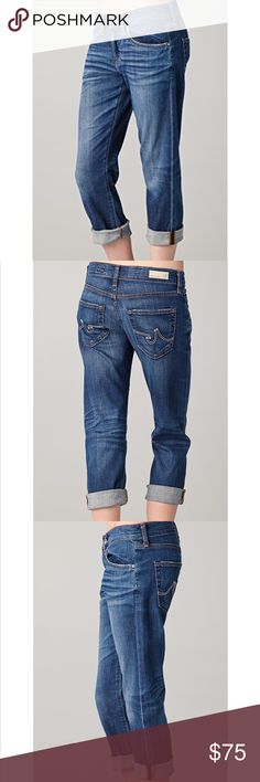 AG//ex-boyfriend crop jeans 26 in EUC Ag Adriano Goldschmied Jeans Ankle & Cropped