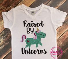 Raised by Unicorns Tshirt #matchthewoolies #makeclothmainsteam #clothdiapers #clothdiapering #babystyle #toddlerstyle #babyfashion #toddlerfashion