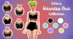 TATER'S HARNESS BRA COLLECTION (5 NEW MESHES!)