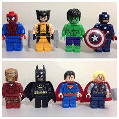 8Pcs SET DC Comics Marvel Super Heroes Avengers Building Toys Minifigures Spiderman Wolverine Hulk Captain America Batman Superman Thor on Etsy, $14.29 CAD