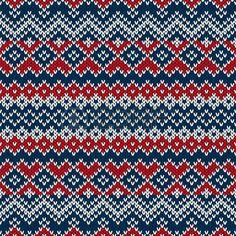 Nordic estilo tradicional Fair Isle patr�n de tejido sin costuras photo