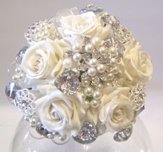Image detail for -Sparkling brooch wedding bouquets