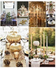 This Thanksgiving, infuse a little gold into your holiday tablescape.