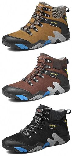 fe9e9e1bafdf05 Large Size Men Genuine Leather Waterproof Outdoor Hiking Shoes is  fashionable and cheap