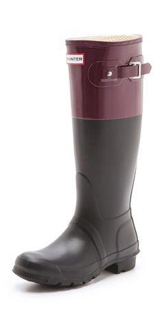 Hunter Boots Original Colorblock Rain Boots | SHOPBOP