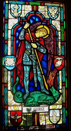 St George and the Dragon Stained Glass Window, St. George's Chapel, Windsor Castle