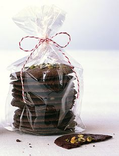 Brownie Thins... These thin chocolate cookies taste just like the very top layer of a brownie