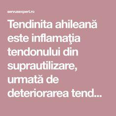 Tendinita ahileană este inflamaţia tendonului din suprautilizare, urmată de deteriorarea tendonului şi de ruperea acestuia.