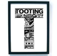 Best Of Tooting Screenprint