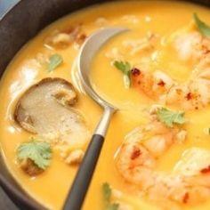 Cajun Pumpkin Soup with Shrimp