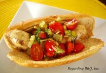 Chicken Sausage Sandwiches with Tomato-Pickle Relish