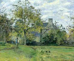 Camille Pissarro (Saint Thomas, 1830 - París, 1903) La maison de Piette à Montfoucault (1874).jpg (1200×1002)