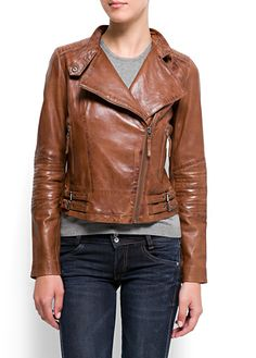 MANGO - CLOTHING - Jackets - Leather perfecto jacket  http://www.bikerorsingle.com/
