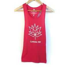 Racerback Tank Tops for Women Canada 150 Logo, Canada Day Shirts, Racerback Tank Top, Active Wear, Tank Tops, Mini, Collection, Women, Fashion
