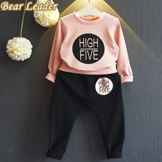 Long Sleeve Sweatshirts+Pants 2Pcs Kids Clothing Sets 3-7Y $19.72 => Save up to 60% and Free Shipping => Order Now! #fashion #woman #shop #diy http://www.bbaby.net/product/long-sleeve-sweatshirtspants-2pcs-kids-clothing-sets-3-7y