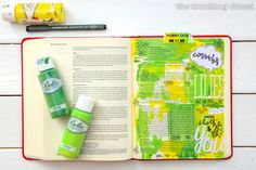 Welcome to My Journaling Bible: heART in the margins   Here's a closer look at my first pages! Check out the full post for the inside scoop Q & A style about this new movement sweeping the margins of Bibles everywhere...and how you can use art to engage with scripture in a new and exciting way!