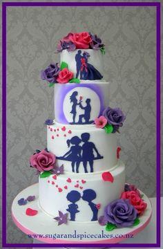 Wedding cake - silhouette