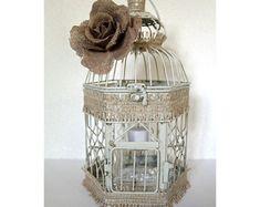 Centerpiece Wishing Well. Wedding Birdcage por DazzlingGRACE