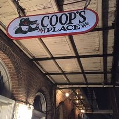 Coop's Place - New Orleans, LA, United States. The sign outside