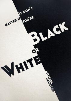 Cartaz Tipográfico Musical - Black or White, Michael Jackson