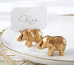 Your friends and family will feel lucky when they see these Lucky Golden Elephant Place Card Holders at your Indian bridal shower and jewel tone wedding. Place these lovely gold elephant place card holders. Indian Wedding Favors, Indian Wedding Cards, Indian Wedding Decorations, Unique Wedding Favors, Wedding Party Favors, Wedding Place Cards, Bridal Shower Favors, Indian Bridal, Wedding Ideas