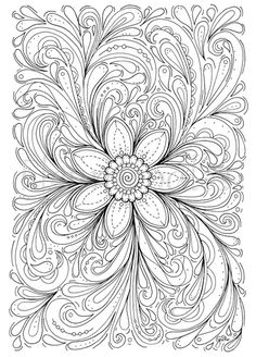 Floral Coloring Page Dream Of A Flower Instant By Fleurdoodles