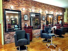 s hair salon. Barber Shop Interior, Barber Shop Decor, Beauty Salon Interior, Design Salon, Beauty Salon Design, Salon Interior Design, Small Salon Designs, Design Design, Schönheitssalon Logo