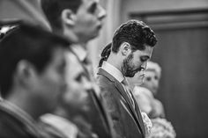 Groom in deep thought during his wedding ceremony. More photos on the blog!