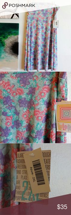 NWT LuLaRoe Azure Skirt NWT pink, mint, and purple Azure skirt LuLaRoe Skirts Midi