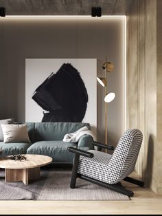 Dark interior design ideas, featuring two modern home interiors with black accent living rooms, grey kitchens, dark bathroom design, and a stylish grey bedroom. Small Apartment Layout, Small Apartments, Modern Interior, Home Interior Design, Minimalism Living, Living Room Designs, Living Room Decor, Appartement Design, Dark Interiors