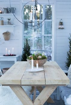 Sommarbacka Nordic Christmas, December, Christmas Decorations, Dining Table, Outdoor, Inspiration, Furniture, Garden, Happy