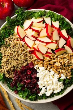 Autumn Kale Apple and Quinoa Salad - Cooking Classy