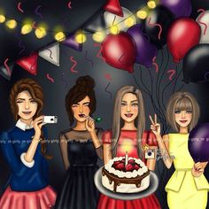 Find images and videos about friends and girly_m on We Heart It - the app to get lost in what you love. Cartoon Pics, Girl Cartoon, Cartoon Art, Cute Cartoon, Best Friend Drawings, Girly Drawings, Sarra Art, Girly M, Whatsapp Dp Images